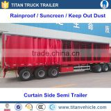 3 axle box van type enclosed cargo semi trailer with Siding Curtain