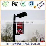 Creative LED Lamppost Display Transparent LED display Glass wall