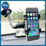 Universal gooseneck car holder, suction cup cell phone car holder, 360 rotate car mobile holder