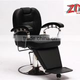 Solid wood armrest barbers chairs with reclining backrest