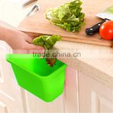 Kitchen cabinet doors hanging plastic trash Creative Desktop multi function storage box -Green