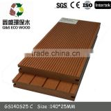 ECO- friendly wpc fence / railing 100% recycle wpc composite plastic decking wpc outdoor board