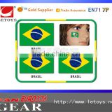 Hot Sselling Tattoo Sticker / Football Fans tattoo, face sticker, brazil sticker