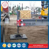 Black color yellow color uhmwpe crane lorry outrigger pad for sale
