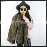 2016 China Wholesale Autumn Winter Plus Size Faux Fur Vest Brown For Girls