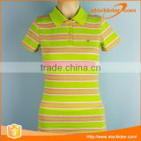 Stock Teen Girls Polyester Slim Fit Polo Shirts Many Color Patterns