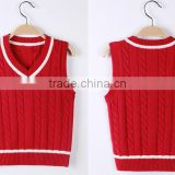 Wholesale cheap stylish boy sweater vest clothing factories in china