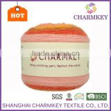 Charmkey wholesale dyed cake yarn blend hair wool acrylic yarn easy-care crochet fancy yarn