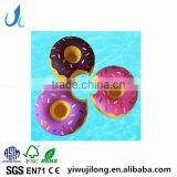 PVC Inflatable Doughnut Drink Cup Holder Float Swimming Pool Water Party Toys