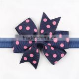 Elastic Headband Dot Swallow Tail Bow Baby Hairwear For Photography Props