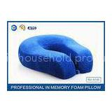 Cervical Memory Foam Travel Neck Pillow With Portable Bag , Bamboo Fiber Pillowcase