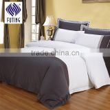 Wholesale 4pcs embroidered bed linen 100% cotton white bedding set hotel bed sheet set