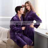 coral fleece bathrobe unisex couple robe purple hotel & spa wholesale bathrobe