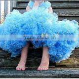 Pettiskirt Baby Pretty Party lively elf ballet tutu Dancewear Pettiskirt Party Fluffy Aqua Dance Skirt With Bow Pettiskirts