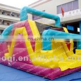 AOQI bright colors mini climb inflatable slide kids outdoor or indoor game equipment inflatable slide for sale