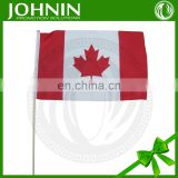 hotsell cheap promotional hand shaking mini canadian stick flags