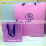 Custom Fashionable Luxury High quality Paper bag with handle for wholesale