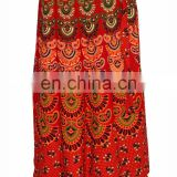 Wrap around Skirt Peacock Printed Hippie Gypsy Women's Long Sarong Summer Hippie Beach Boho Cotton Wrap Around Skirt Dress