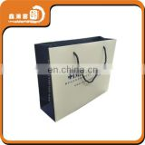 hot stamping strong white paper bags rope handle