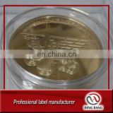 Customized 24K Gold Plated Logo Engraved Type Collective Commemorative Coin With Acrylic Box