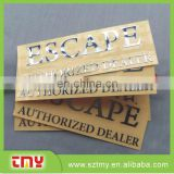Custom cheap embossed laber sticker adhisive metal laber sticker