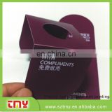 0.38mm thickness pvc neck tag wine bottle pvc neck tag