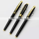 twist action frosted barrel metal l ballpoint ball pen with shiny golden accents