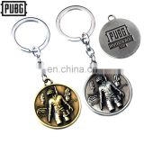 Game Playerunknown's Battlegrounds Logo Choker Necklace Keyring 3D Pendant PUBG Keychain Charm Souvenir Birthday Gifts Chaveiro
