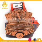 Antique Copper Half Marathon Running Medal with Company Logo