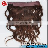 Leading Hair Manufacturer New Design High Quality Double Drawn Soft No Shedding halo hair crown
