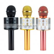 Ws858 Mini Wireless Karoke Magic Sound 3-In-1 Portable Handheld Karaoke Mic Microphone With Record Function