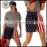 2015 Autumn Women American Flag Sport Boxing Shorts