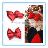 New fashion Girls hair accessories Flashing Christmas hairband Large red bow baby Christmas headband