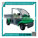 electric utility vehicle with rear cargo bed for cargo delivery