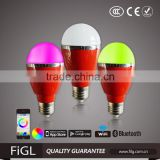 LED BULBS LIGHTING ,BLUETOOTH APP CONTROL, E27,7w ,85v~240v,CUSTOME DESIRE LAMPS AND LABLES
