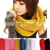 Best Selling Iceland Yarn Plain Knitted Winter Circle Loop Scarf