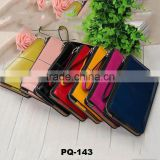 7 colors Candy Color Personalised Zipper Leather laides Wallet bag Hand Bag for women