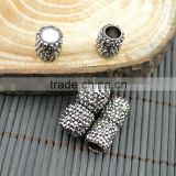 LFD-00C1 Wholesale Pave Rhinestone Crystal Magnetic Clasp For Round Leather Bracelets Jewelry Making (6mm Hole)