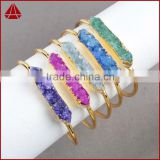 New collection assorted colors druzy stone bracelet jewelry accessories boutique
