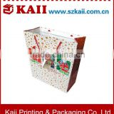 hot sell lovely Christmas paper bags with handle