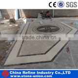 Waterjet marble tile floor medallion