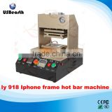 2016 new hot LY 918 auto apple mobile frame laminating machine hot bar station with built-in air compressor