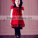 New fashion warm korean woolen short sleeve baby dress
