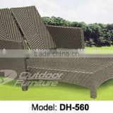 Outdoor rattan double chaise lounge (DH-560)