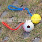 7x 30cm Custom Cheap Rubber Spike Ball with Hole for Dog