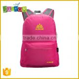Justop New Arrival Hiking Folding Backpack Waterproof Nylon High Quality Packsack Colourful Knapsack Wholesale