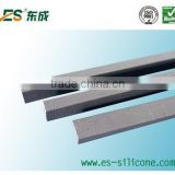 Four sides conducting silicone rubber zebra strip