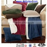 microfiber plush blanket and pillow set