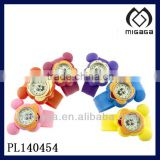multi colors bright color micky mouse cartoon watch for kid's cute kid's cartoon slap watch