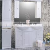 Modern Simple Bathroom Floor standing Vanity Gloss White Bathroom Mirror Vanity Hanging White Bathroom Basin Vanity Unit